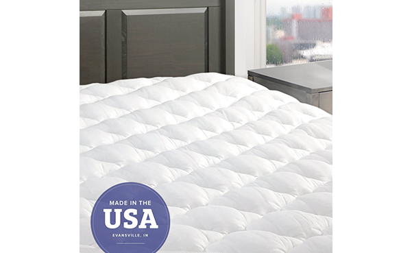 eLuxurySupply Mattress Pad with Fitted Skirt