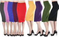 Women's Cotton-Rich Pencil Skirt (3-Pack)