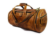 Aaron Leather Travel Duffle Barrel Bag