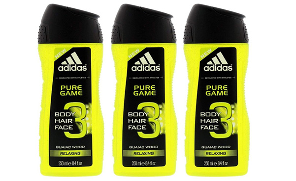 Adidas Pure Game Shower Gel, 3 Pack