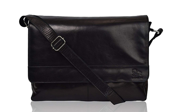 Estalon Leather Laptop Messenger Bag for Men