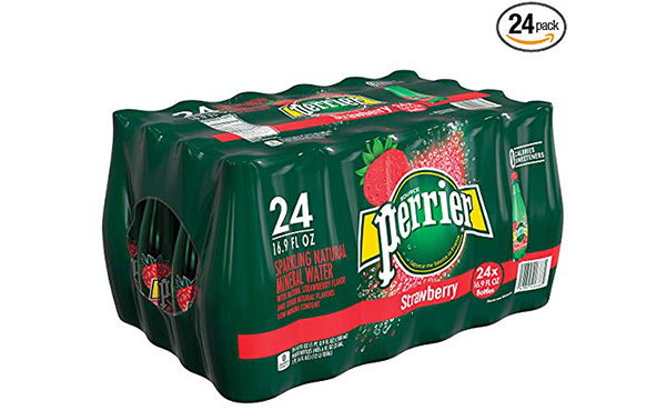 Perrier Strawberry Flavored Carbonated Mineral Water