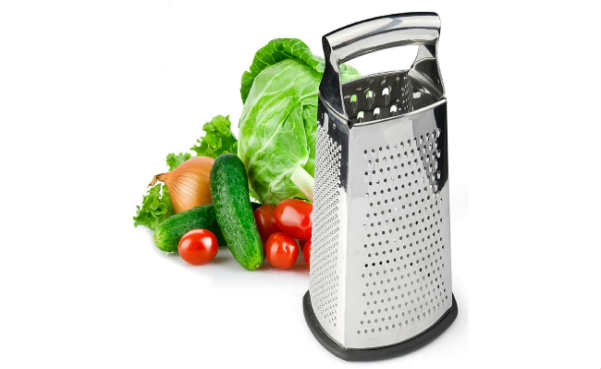Box Grater 4-Sided Stainless Steel Large 10-inch Grater