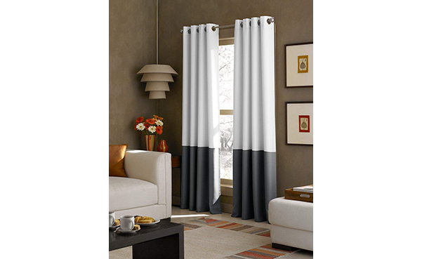 Curtainworks Block Grommet Curtain Panel