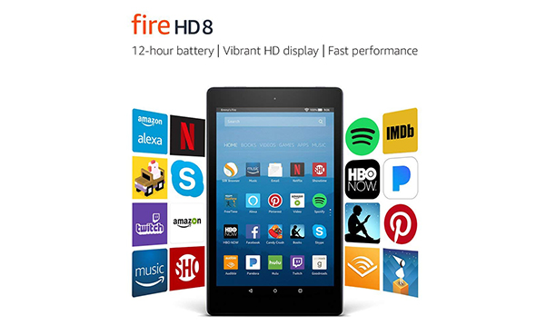 Fire HD 8 Tablet with Alexa, 16 GB