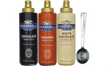 Ghirardelli 16 oz Chocolate 17 oz White Chocolate Flavored 17 oz Caramel Sauce Squeeze Bottle Set of 3