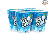 ICE BREAKERS ICE CUBES Chewing Gum, Pack of 4