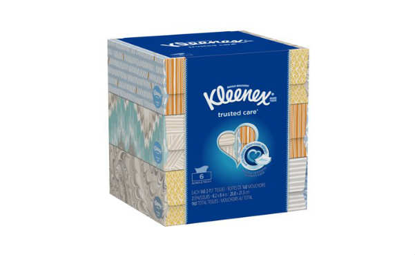 Kleenex Everyday 160 Tissues per Flat Box 6 Pack Facial Tissues