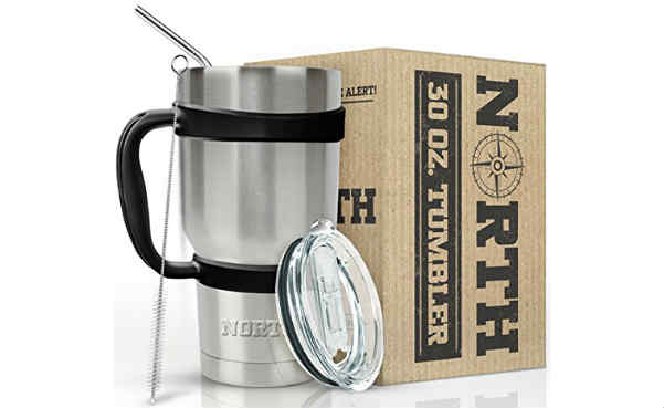 North Stainless Steel Vacuum Insulated 5-Piece Tumbler Set
