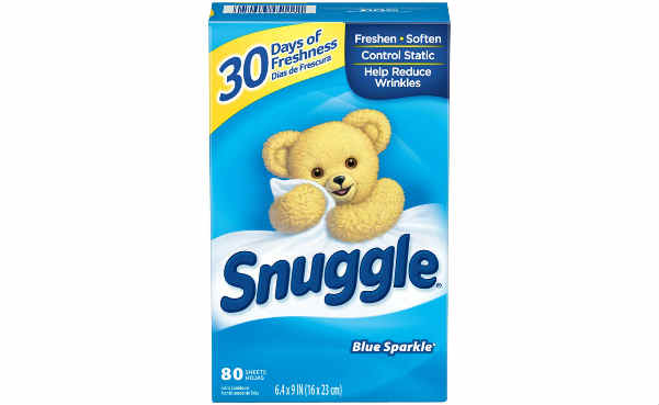 Snuggle Fabric Softener Dryer Sheets Blue Sparkle 80 Count