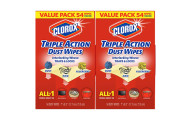 Clorox Triple Action Dust Wipes, Pack of 2
