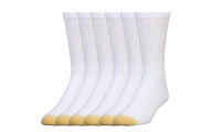 Gold Toe Men's Cotton Crew Athletic Sock, Pack of 6