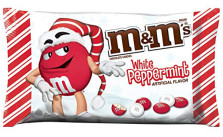 M&M'S White Peppermint Christmas Candy, 8 oz