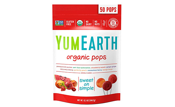 YumEarth Organic Lollipops, 50 Count