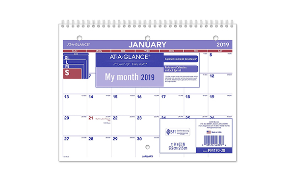 AT-A-GLANCE 2019 Desk Calendar