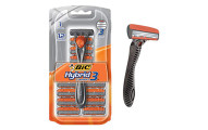 BIC Men's Hybrid 3 Comfort Disposable Razor, 12 Count