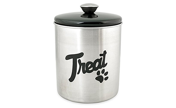 Buddy's Line Stainless Steel Top Treat Jar