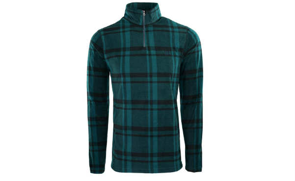 Chaps Men's Fleece Flannel Zip Jacket