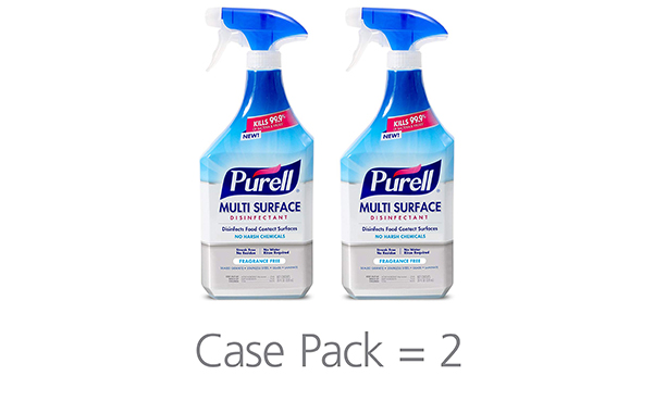 PURELL Multi Surface Disinfectant Spray, Pack of 2