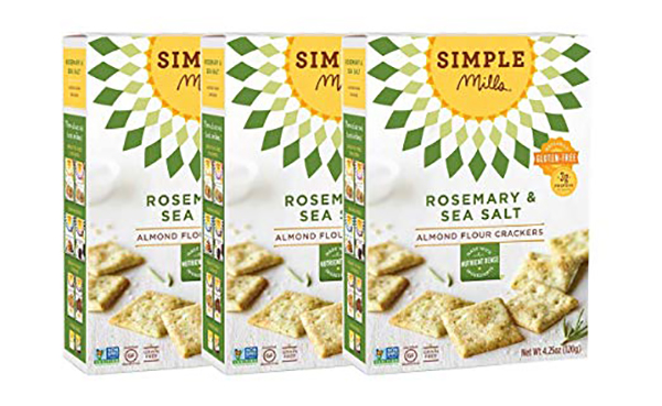 Simple Mills Almond Flour Crackers, 3 Count
