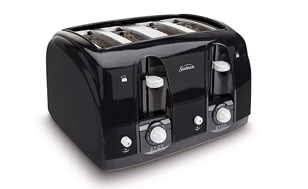 Sunbeam Wide Slot 4-Slice Toaster