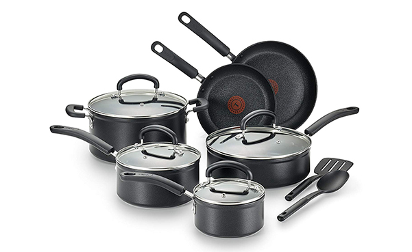 T-fal 12-Piece Nonstick Thermo-Spot Cookware Set