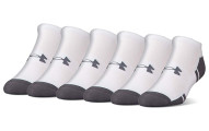 Under Armour Men's Resistor 3.0 No Show Socks, 6 Pairs
