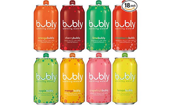 bubly Sparkling Water Sampler, Variety Pack, 18 Count