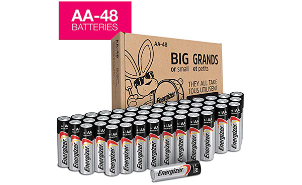 Energizer AA Batteries, 48 Count
