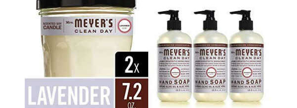 Mrs Meyers Hand Soap Candle Set