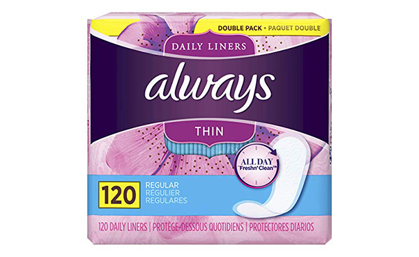 Always Thin Daily Liners, 120 Count