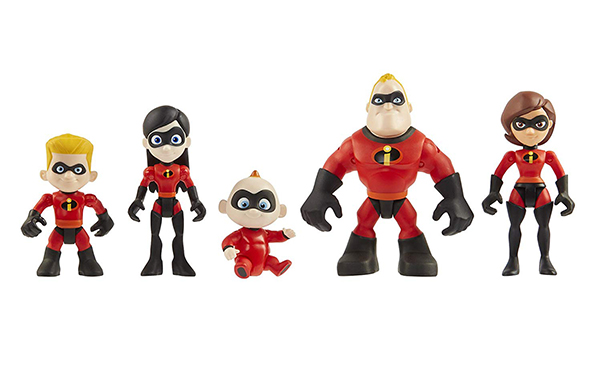 The Incredibles Family Junior Supers Action Figures