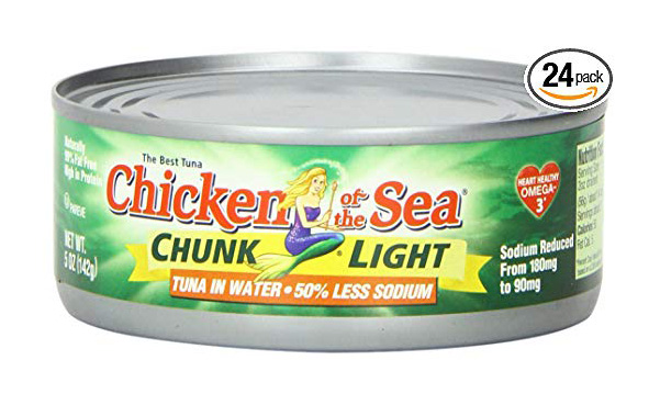 Chicken of the Sea Tuna Chunk Light in Water, Pack of 24