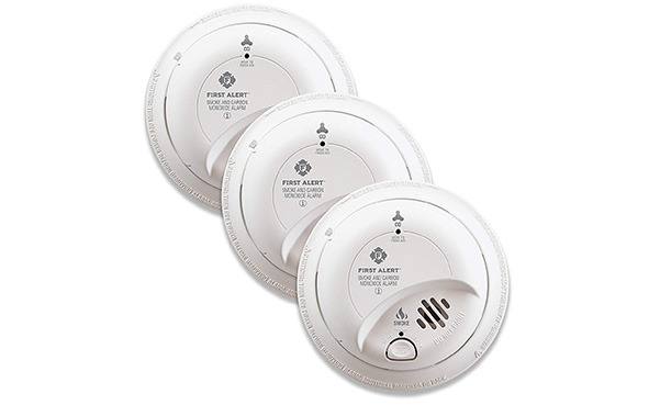 First Alert Hardwired Smoke and Carbon Monoxide Detector, 3 Pack
