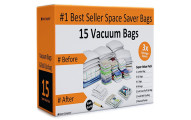 Home-Complete Vacuum Storage Bags, 15 Bags
