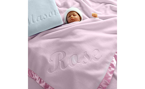 Large Personalized Baby Blanket