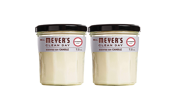 Mrs. Meyers Large Glass Lavender Scented Soy Candle