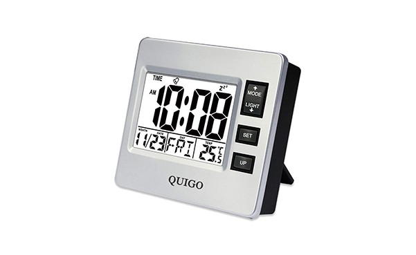 QUIGO Small Digital Travel Alarm Clock