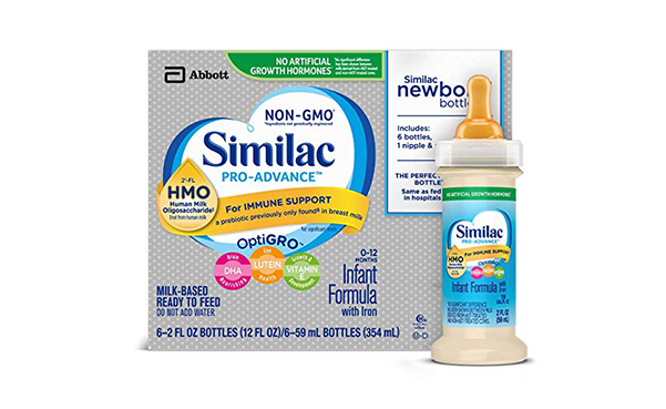 Similac Pro-Advance Infant Formula in Bottles, 48 Count