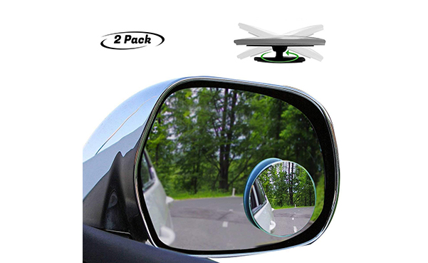 Tovieya 2 Inch Blind Spot Mirror, 2 Pack