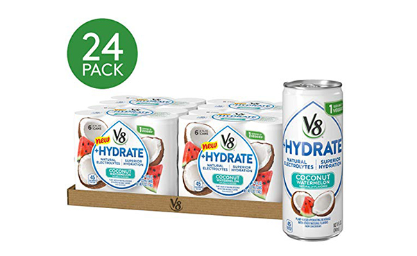 V8 Coconut Watermelon Hydrating Beverage, 24 Pack