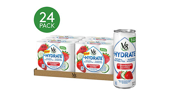 V8 +Hydrate Plant-Based Hydrating Beverage, 24 Pack
