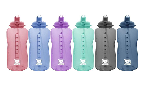 1 Gal. Giant Water Bottle with Carry Handle and Straw