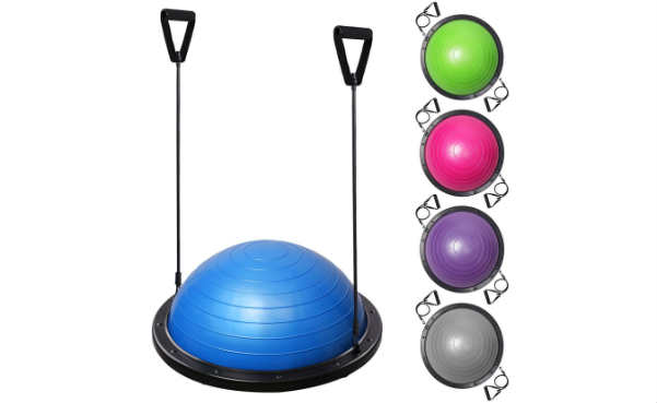 23 Yoga Half Ball Balance Trainer Exercise Fitness Strength Gym Workout w Pump