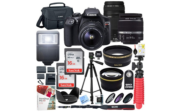 Canon EOS Rebel T6 18MP DSLR Camera and Accesories