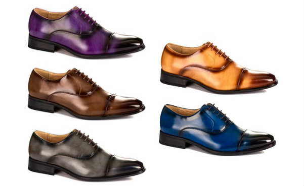 Gino Vitale Lace-up Cap-Toe Dress Shoes