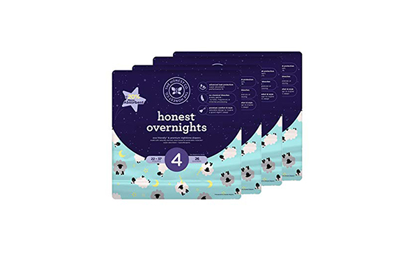 Honest Overnight Baby Diapers, 104 Count