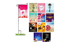 Outdoor Seasonal Garden Flags with Stand