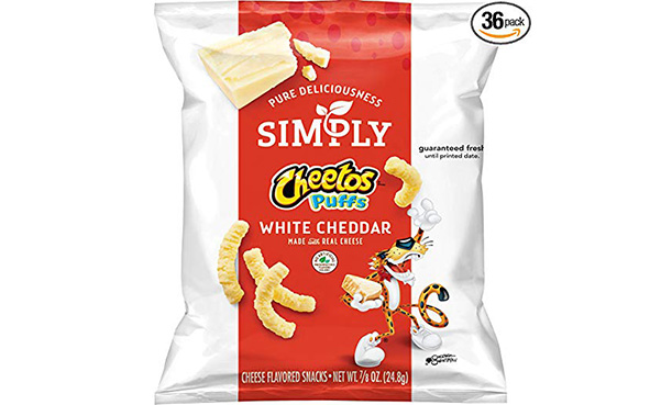 Simply Cheetos Puffs Cheddar Flavored Snacks, 36 Count
