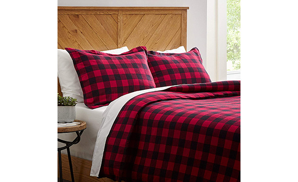 Stone & Beam Soft and Breathable Flannel Duvet Set